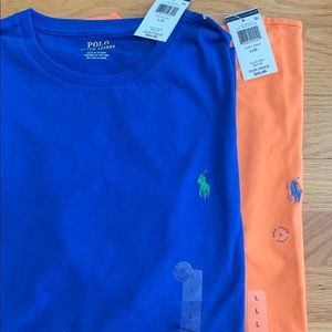 Brand new men's large polo t shirts